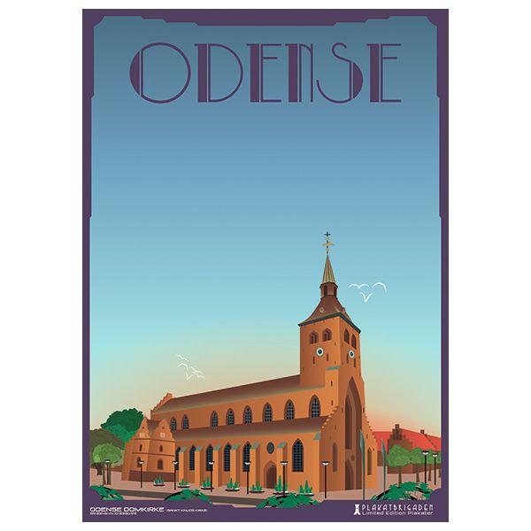 Limited edition plakat af Odense Domkirke/Sankt Knuds Kirke