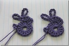 crochet Easter rabbit tutorial. Add a chain to make a bookmark! thanks so for share xox