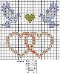 Resultado de imagen para punto de cruz bodas graficos gratis