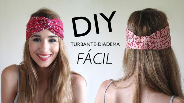 DIY | Cómo hacer turbantes-diadema (con y SIN MÁQUINA DE COSER)