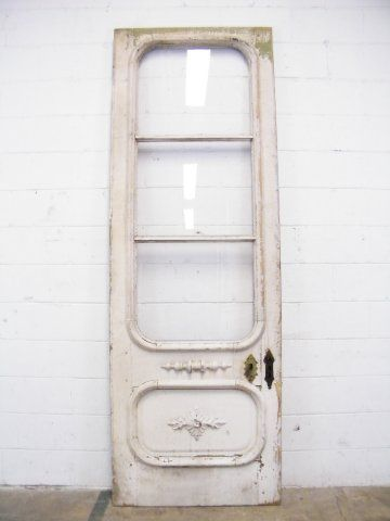 Entry Door Pediments | Salvaged Victorian Entry Door Price $ 550  Architectural Wood Pediment