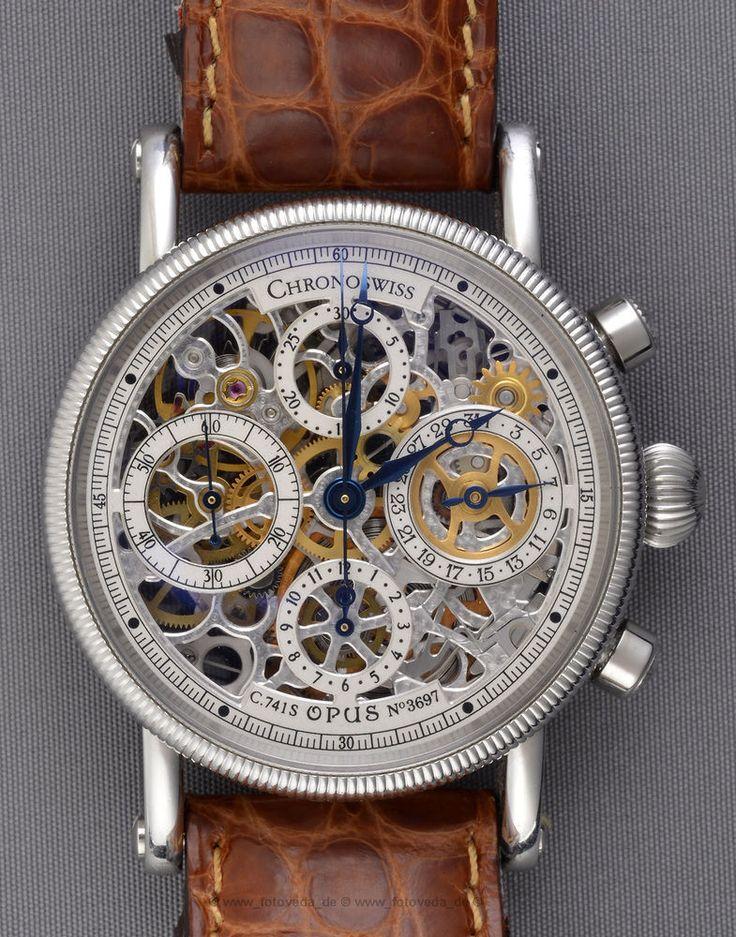 Die Uhr hat nur ganz leichte Gebrauchsspuren. FÄNGT DAS AUTOMATIKWERK ZU LAUFEN AN. Chronoswiss Opus. Ref: CH-7523. SKELETT CHRONOGRAPH. DIE UHR LÄUFT TÄGLICH ca. 20 Sekunden NACH. UND SCHEINT ABSOLUT FUNKTIONSTÜCHTIG UND 100% IN ORDNUNG ZU SEIN. | eBay!