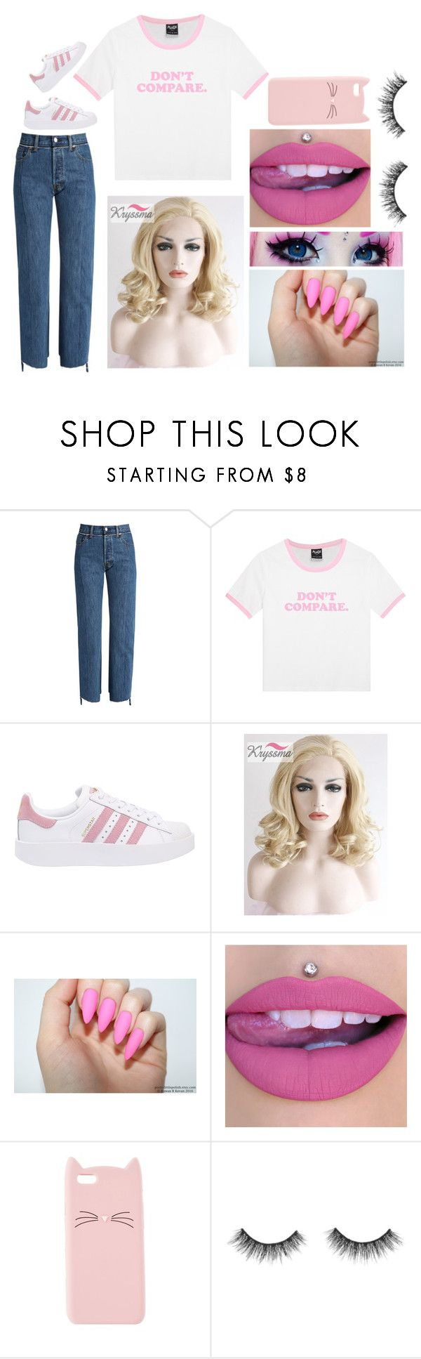"""Bailey: August 25, 2017"" by disneyfreaks39 ❤ liked on Polyvore featuring Vetements, adidas Originals and Charlotte Russe"