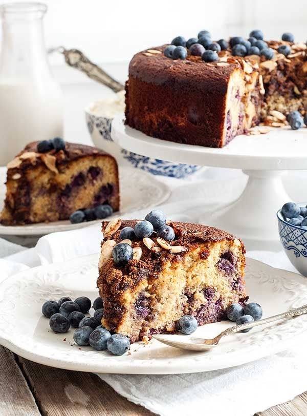 Blueberry Almond Coffee Cake {Gluten-Free Paleo} | Simply Gluten -Free
