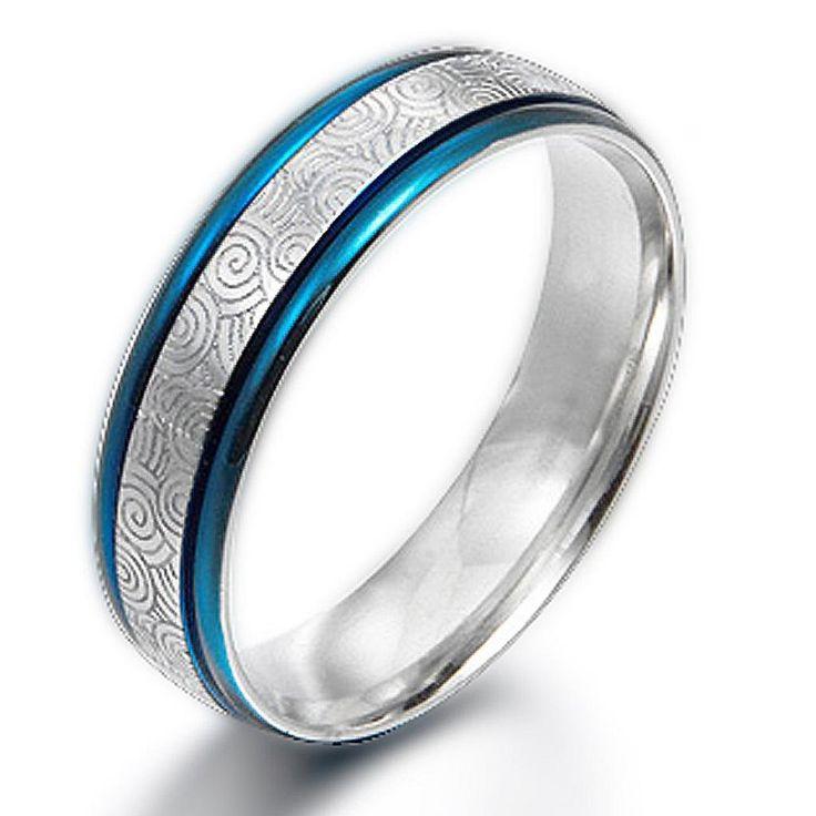 Gemini Damen-Ring Titan , Herren-Ring Titan , Freundschaftsringe , Hochzeitsringe , Eheringe, Farbe: blau Breite 4mm Größe 48 - 63: Amazon.de: Schmuck
