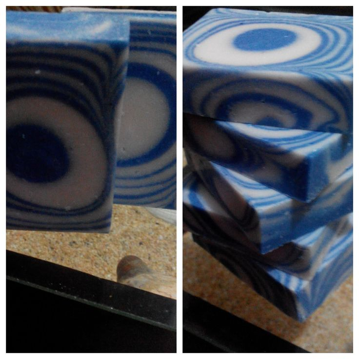 This soap is inspired by the name of the scent : caribbean... :)