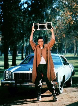 """Say Anything"": 80S, Movies Scenes, Johncusack, Romantic Movies, Lloyd Dobler, John Cusack, Favorit Movies, Peter Gabriel, Sayings Anyth"