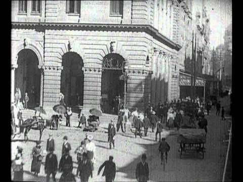 VIDEO! A 1906 bird's-eye view of George Street, Sydney, NSW.
