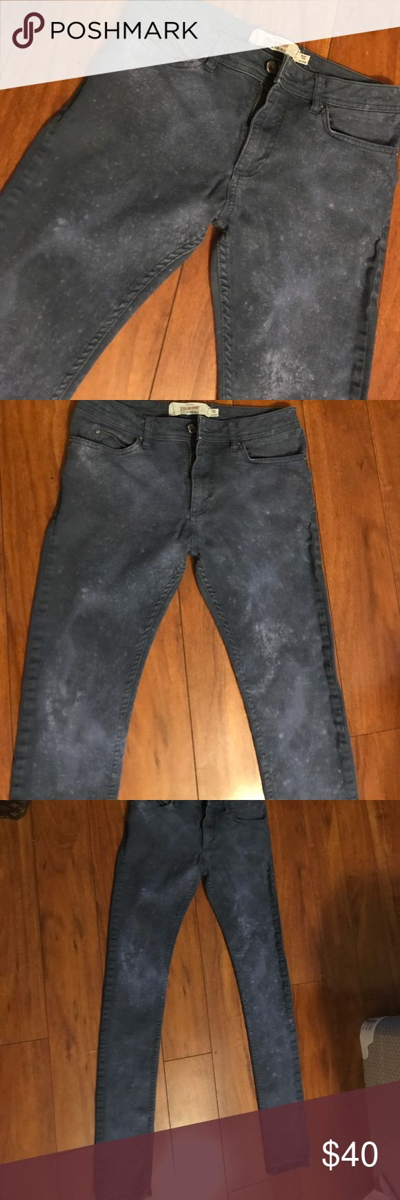 Topman blue spotted Spray See pics Topman Jeans Skinny