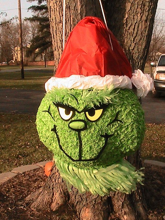 Grinch pinata   ready to ship by MissSuziQCreations on Etsy, $25.00
