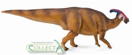 The 1:40 scale Parasaurolophus dinosaur model by Collecta.