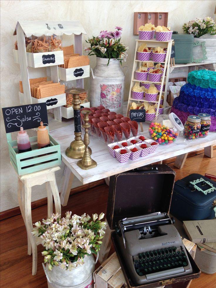 Mesas de dulces Borboleta