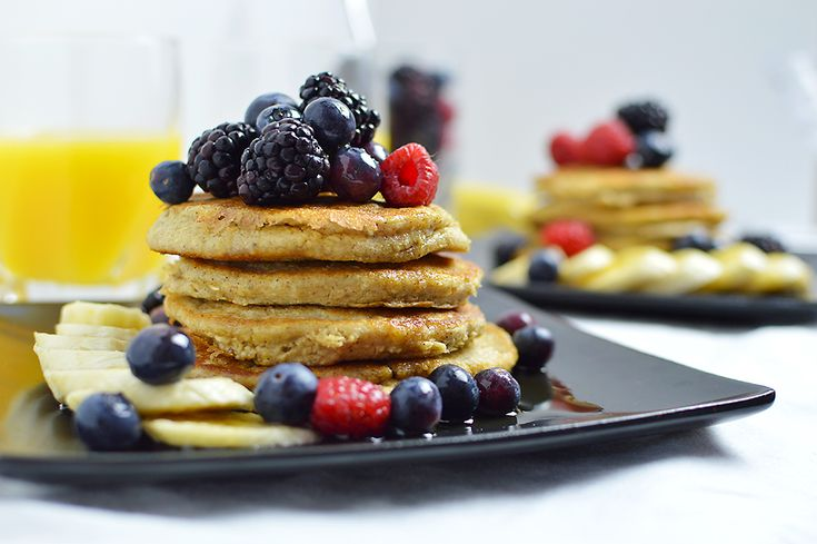 Need a healthy, vegan, gluten-free breakfast?? These pancakes are the perfect option! Such a simple recipe, and the pancakes taste like banana bread! The recipe is from BeachBody's FIXATE cookbook -- enter the giveaway for THIS cookbook on my site through November.