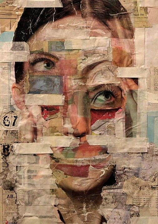 Love this distorted collage effect, could do this using animal and human faces