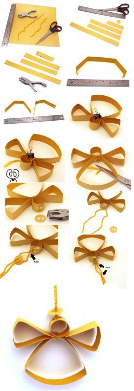 Hermoso y fácil ángel de papel crafs solo necesitas papel, hilo de estambre junto con algunas herramientas que tienes en casa para convertirlo en una bella decoración navideña. Usted puede hacerlo ...