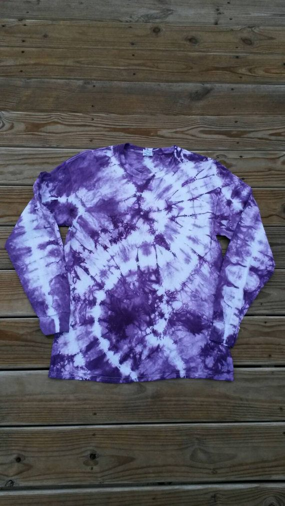 Use coupon code PIN10 during checkout to receive 10% off your purchase!   Tie Dye Shirt Check out this item in my Etsy shop https://www.etsy.com/listing/207599678/tie-dye-shirt-purple-tie-dye-long-sleeve