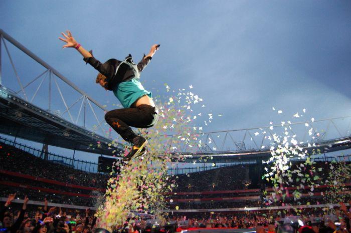 Chris Martin (via Coldplay: News - London, Emirates Stadium live blog)