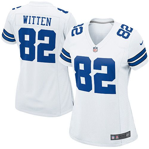 nfl womens limited nike dallas cowboys 82 jason witten white color jersey 79.99