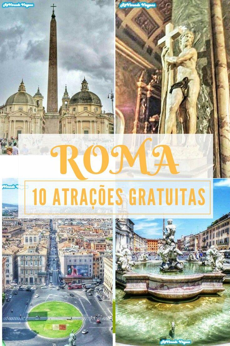 10 atrações gratuitas e imperdíveis em Roma