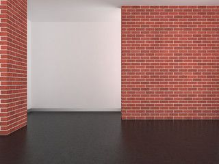 empty modern room with concrete wall and dark floor