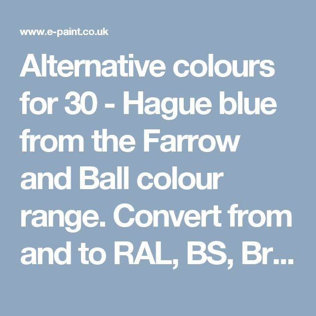 Paint Colors With Cult Followings 10 Picks From The: Hague Blue From The Farrow