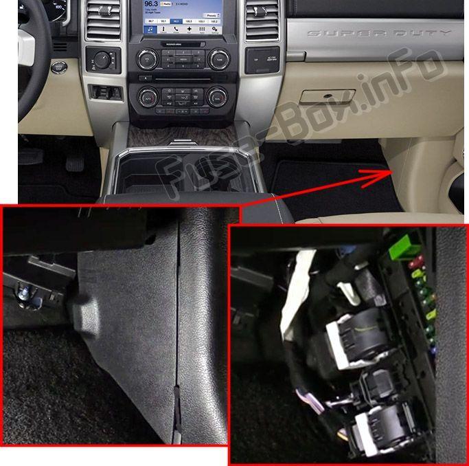 Ford F-250/F-350/F-450/F-550 (2017-2019) < Fuse Box location | Fuse box,  F250, Electrical fuse | Ford F450 Fuse Box |  | Pinterest