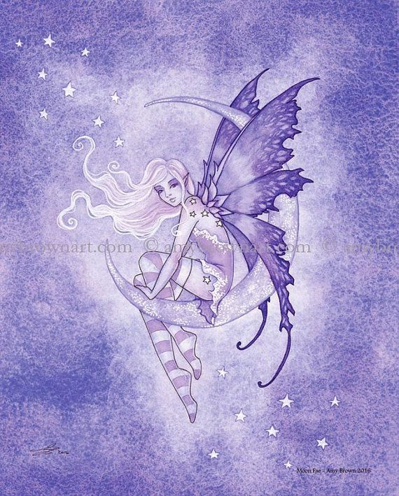 Moon Fairy 8X10 PRINT by Amy Brown