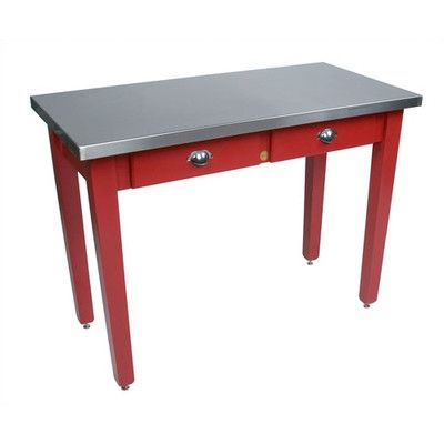 John Boos Cucina Americana Prep Table with Stainless Steel Top