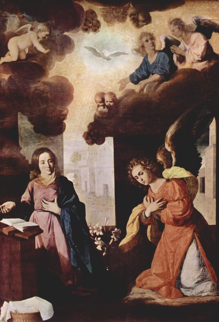 Francisco de Zurbarán (Spanish 1598–1664) [Baroque] L'Annonciation, circa 1638. Museum of Grenoble, France.