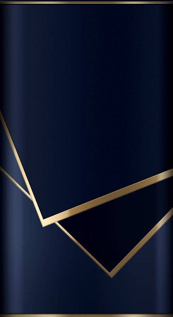 Blue & Gold Abstract Wallpaper