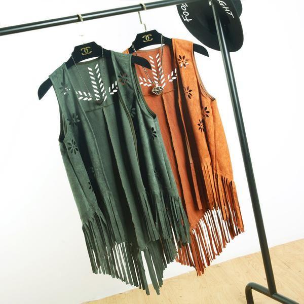 Casual Fashion Suede Fringe Vest $39.99 www.missmolly.com.au #missmollyau #accessories #coats #scarves #jackets #winter #autumn #fashion #womensfashion