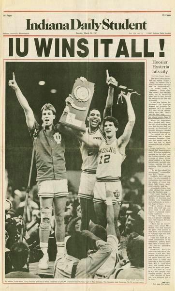 Todd Meier, Dean Garrett and Steve Alford - Indiana    #IUCollegeBasketball