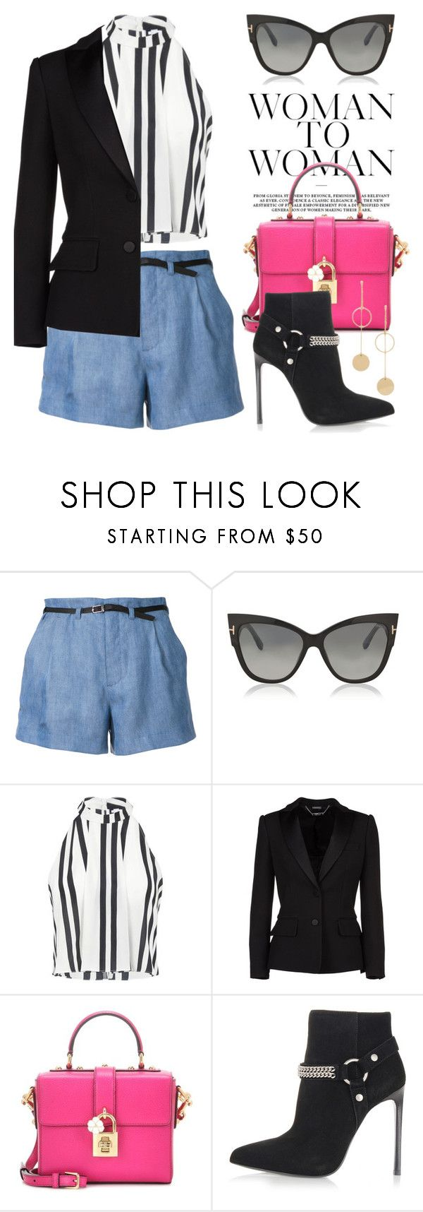 """""""Upscale Shorts 3619"""" by boxthoughts ❤ liked on Polyvore featuring Guild Prime, Tom Ford, Alexander McQueen, Dolce&Gabbana, Yves Saint Laurent and Cloverpost"""