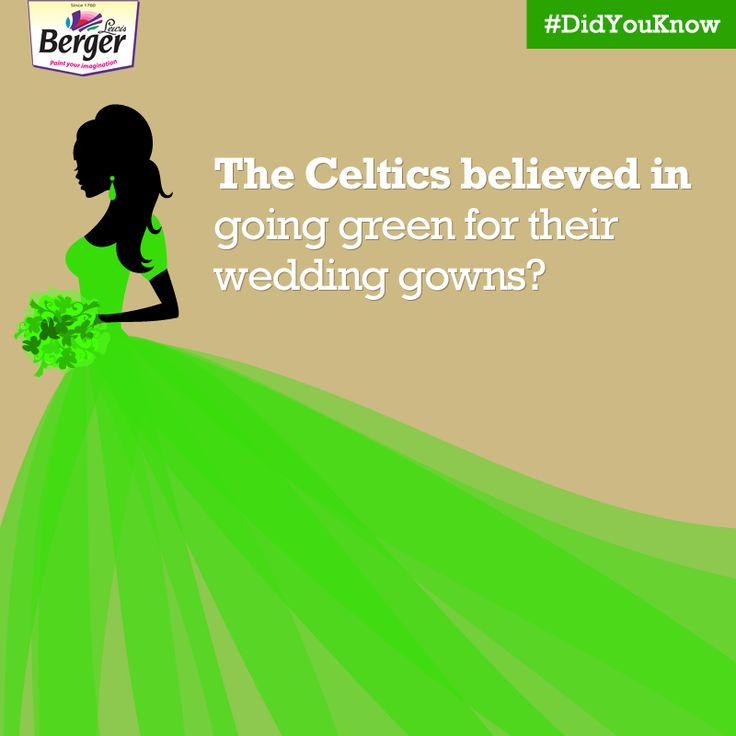 Did you know that wedding dresses were not always white? In the Renaissance era, brides wore green gowns as a symbol of their fertility and because the Green Man was considered the God of fertility, according to Celtic myths. #ColourFacts