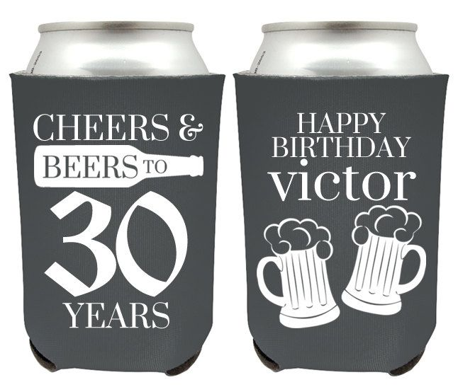 30th Birthday Can Coolers - Cheers and Beers to 30 Years Birthday Party Can…                                                                                                                                                                                 More