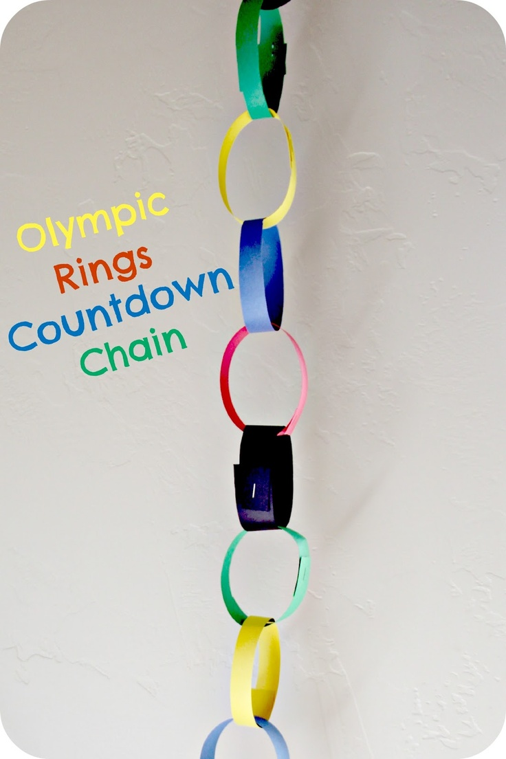 Blue Skies Ahead: The Olympic Rings craft...and a treat too :)