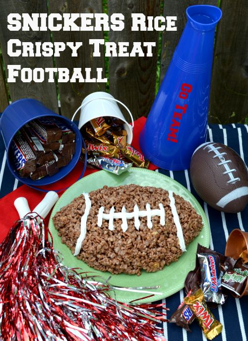 SNICKERS Rice Crispy Treat Football Recipe #Chocolate4TheWin #shop
