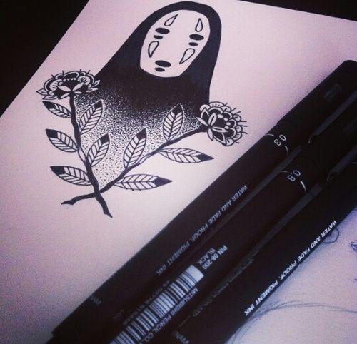 Imagen de no face, sketch, and spirited away