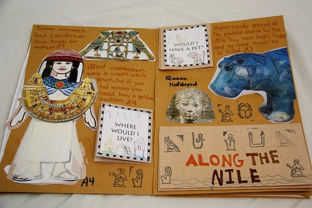Making a book with everything you learned about Ancient Egypt!