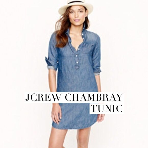 Jcrew chambray tunic I wear this as a long top over leather leggings and it's pretty awesome. Layer a short sweater over it. J. Crew Tops Tunics