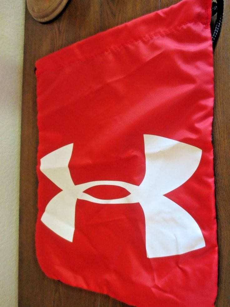 Under Armour Ozsee Sackpack Drawstring Backpack Sack Pack Gym Bag All Sport Red #UnderArmour #Sackpack