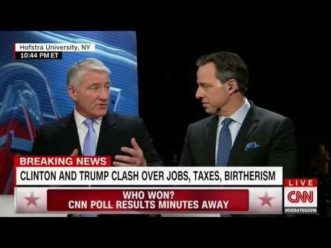Jake Tapper waxes philosophical over Trump's debate antics... - VIDEO - http://holesinthefoam.us/jake-tapper-loses-shit-trumps-debate-antics-video/