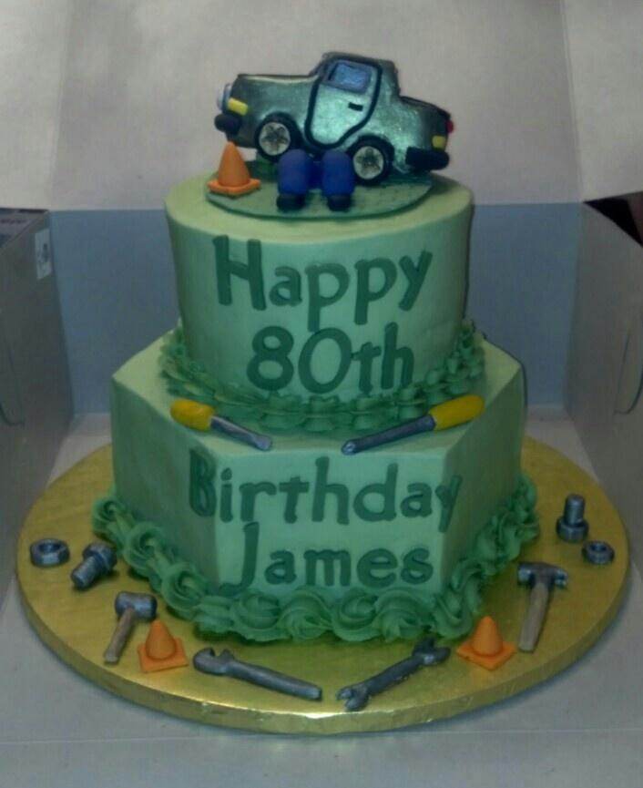 Birthday cake for a former mechanic.