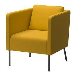 EKERÖ Chair - Skiftebo yellow - IKEA  THIS is the correct link to the yellow chair.  could put two of these in the space in the window