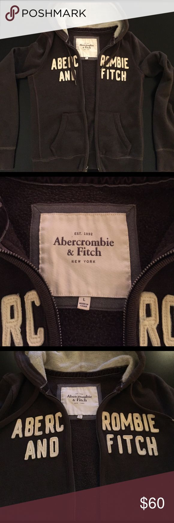 Original🌺Abercrombie&Fitch Brown Zip Up Hoodie!! Original🌺Abercrombie&Fitch Brown Zip Up Hoodie!! Worn a couple times but in great condition, the only thing is the zipper doesn't work. Size Large and fits true to size. This is from when the quality of the brand was FANTASTIC meaning this hoodie is extremely comfortable, heavy, and cozy!! I absolutely love this piece, goes with anything! Abercrombie & Fitch Tops Sweatshirts & Hoodies