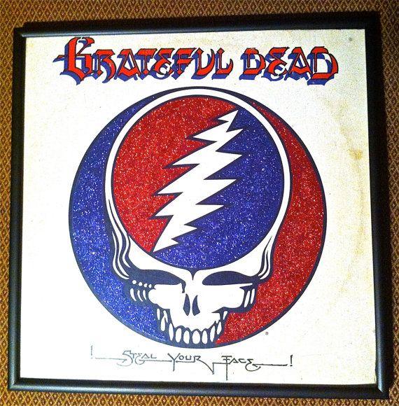 Glittered Grateful Dead Album @Vintage Vinyl @Grateful Dead @Deadhead
