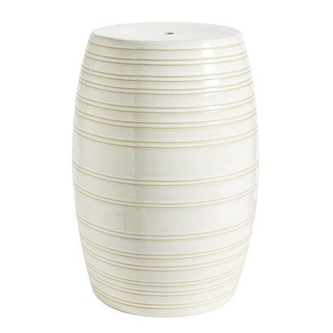 Ballard Designs - Cannes Striped Garden Seat in White (also available in green u0026 blue  sc 1 st  Pinterest & 74 best ACK Bedroom 2 Side Tables images on Pinterest | Side ... islam-shia.org