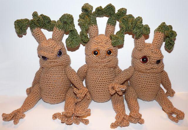 Amigurumi Mandrake : HP Cute Mandrake root patterns Crochet this....beeshon ...