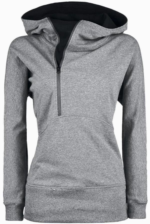 Gray Comfy Sport Hoodie for Ladies, Love it