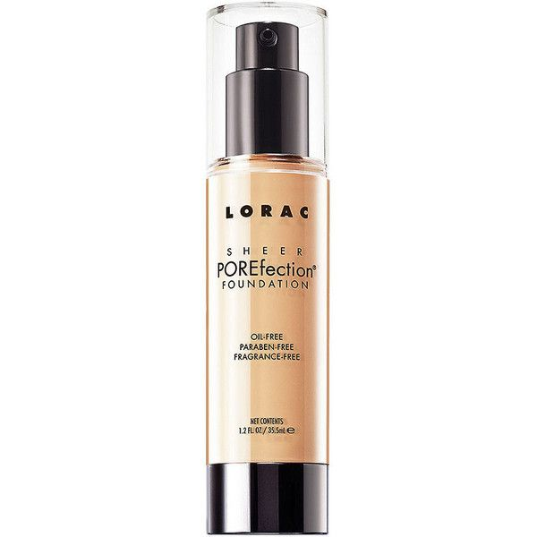 LORAC Sheer POREfection Foundation, PS2- Light 1.2 oz (35.5 ml) (625 EGP) ❤ liked on Polyvore featuring beauty products, makeup, face makeup, foundation, paraben-free foundation, anti aging foundation, lorac, lorac foundation and fragrance free foundation
